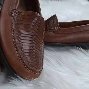 Sperry woven leather loafers